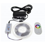 7m RGB vysokosvietivý LED pasik, efektný ovladac na výber, kompletna sada, 7B