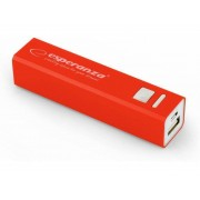 Acumulator extern Esperanza EMP102R Power Bank ERG 2400 mAh red