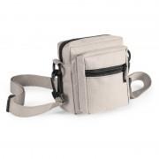 Geen Mini schoudertasje naturel met rits 11 cm