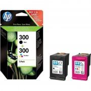 HP 300 Pack Tinteiro Preto + Tricolor