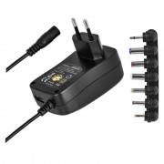 Univerzális töltő-adapter 2,25A 3-12V 7 csatlakozóval + USB N3113