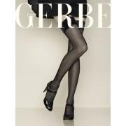 Klassische glatte Strapsstruempfe Soyance 15 DEN von Gerbe, schwarz, Gr. XS