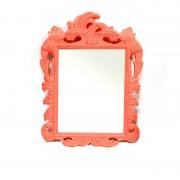 Oglinda mireasa cu rama portocalie