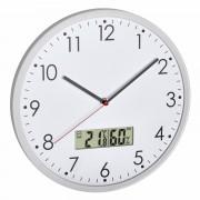 Аналогов стенен часовник с цифров термометър и хигрометър - 60.3048.02