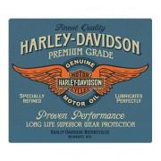 Harley-Davidson Metalen Plaat Embossed Genuine Duty