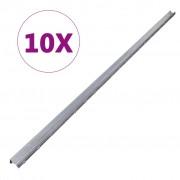vidaXL Z-profilú 2 m-es horganyzott acél kerítésoszlop 10 db-os szett