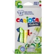 Carioca pentru textile CARIOCA Fabric varf gros 6mm 6 culori-cutie