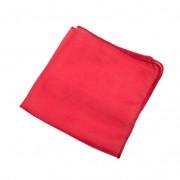 Doek van biologische zijde, rood l 87 x b 87 cm