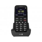 Primo by DORO 366 Senioren mobiele telefoon Laadstation, SOS-knop Zwart