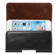 4.8 inch Litchi Texture Vertical Flip Thwartwise Genuine Leather Case / Waist Bag with Rotatable Back Splint for iPhone 7 & 6s & 6 Samsung Galaxy S4 Xiaomi Redmi 3 & 3X etc
