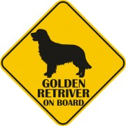 Sticker auto - Golden Retriever