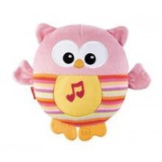 Jucarie de Plus Fisher Price Soothe and Glow Owl Pink