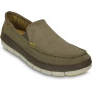 Crocs Stretch Sole Microsuede Loafers For Men(Navy)