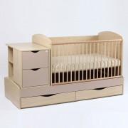 Patut copii si bebe Transformer Eco Plus Silence Natur-Cappucinno Bebe Design