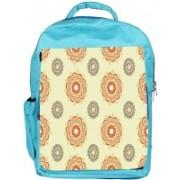 Snoogg Eco Friendly Canvas Multiple Design Cream Pattern Designer Backpack Rucksack School Travel Unisex Casual Canvas Bag Bookbag Satchel 5 L Backpack(Blue)