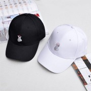 Men Women Hand Embroidery Baseball Cap Adjustable Strapback Trucker Hats