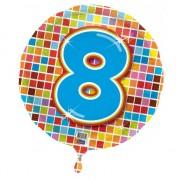 Geen Gekleurde folie ballon 8 jaar