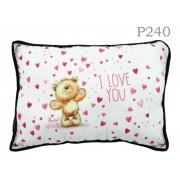 Díszpárna P240 Sok szív I love you - Díszpárna