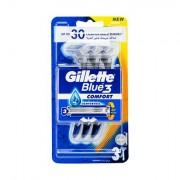 Gillette Blue3 Comfort jednorázová holítka 3 ks pro muže