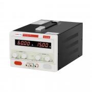 Fonte de alimentação de laboratório - 0-15 V - 0-60 A DC
