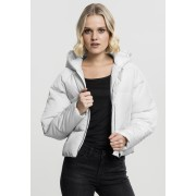 Ladies Hooded Oversized Puffer Jacket offwhite XS