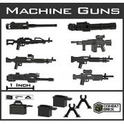 "Custom Modern Warfare Machine Guns Miniature Toy Accessories 2"" Scale Pack Designed For Lego Minifigures"