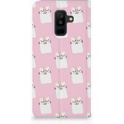 Samsung Galaxy A6 Plus (2018) Uniek Standcase Hoesje Sleeping Cats