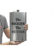 XL 1.7L Stainless Steel Novelty Hip Flask