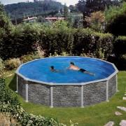 Сглобяем басейн Gre имитация на камък Ø 550 x 132 см, кръг