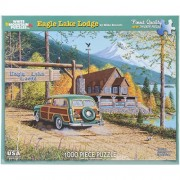 White Mountain Puzzles Eagle Lake Lodge - 1000 Piece Jigsaw Puzzle