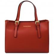 Италианска чанта от естествена кожа Aura