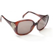 Emilio Pucci Oval Sunglasses(Brown)