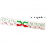 Rosenstein & Söhne Durchgehende Magnet-Messerleiste aus gebürstetem Edelstahl, 36 cm