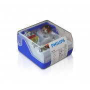 Philips 55005SKKM - Set becuri auto de rezervă H4 12V