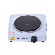 Plita electrica independenta Albatros AP10W, 1000 W, 1 zonă de gatit, Buton termostat, Indicator funcţionare, 25x22 cm, Alb