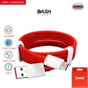 Dash USB Type-C Cable (100 CM) Quick Charging Data For Oneplus - Red