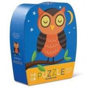 Puzzle Bufniţa Somnorosă în Cutie cu Formă Originală