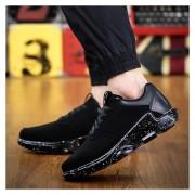 Zapatos Deportivos Para Unisexo Suelas Gruesas Aumentar La Altura Casual Tenis -Negro