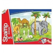 Ratna's Toyztrend Educational Art & Craft Stamp Art Animals Small With 6 Different Animal Stamps For Kids Ages 4+