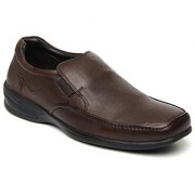 Hush Puppies Mens Brown Formal Slip On Shoes