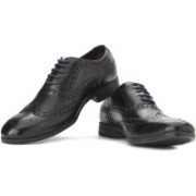 Clarks Banfield Limit Black Leather Lace up For Men(Black)