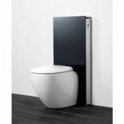 Modul pentru WC stativ Geberit model Monolith sticla neagra/aluminiu