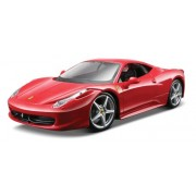 Maisto 1:24 Scale Red Assembly Line Ferrari 458 Italia Diecast Model Kit