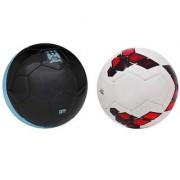 City Black/Blue + Premier League Red/Purple Football (Size-5) Pack of 2 Footballs