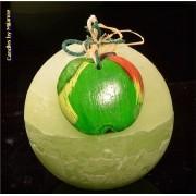 kaarsen: Appel, Kogel kaars, 10 cm