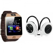 Mirza DZ09 Smart Watch and Mini 503 Bluetooth Headphone for LG OPTIMUS L3 DUAL(DZ09 Smart Watch With 4G Sim Card Memory Card  Mini 503 Bluetooth Headphone)