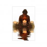 FIRST Heating WIST NG Infrarot-Bildheizung 90 x 60 / 800 W (WIST Motive: Buddha, Rahmen: Ohne Rahmen)