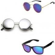 Lee Topper Round, Aviator, Wayfarer Sunglasses(Blue, Green)