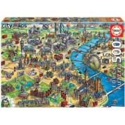 Puzzle Educa 500 piese Harta Londrei