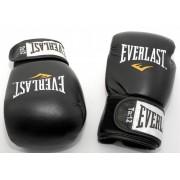 Everlast Fighter 12 oz - manusi de box din piele - negre cu rosu